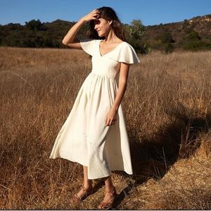 Christy Dawn Monarch dress in buttercream - M